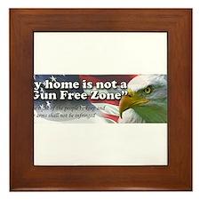 Gun Free Zone Framed Tile
