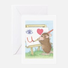 I love you with all my Art Greeting Card