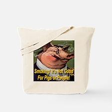 Smoking Pig Tote Bag