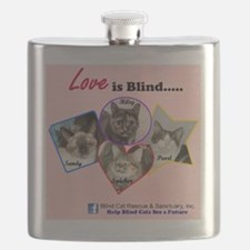 Love is Blind in Pink Flask
