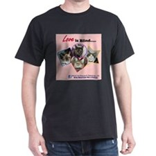 Love is Blind in Pink T-Shirt