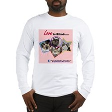 Love is Blind in Pink Long Sleeve T-Shirt