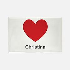 Christina Big Heart Rectangle Magnet