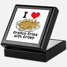 I Heart (Love) French Fries Keepsake Box
