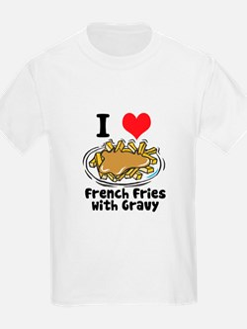 I Heart (Love) French Fries Kids T-Shirt