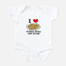 I Heart (Love) French Fries Infant Bodysuit
