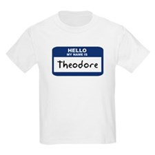 Hello: Theodore Kids T-Shirt