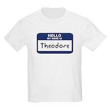 Hello: Theodore Kids T-Shirt