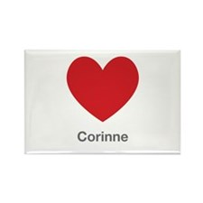 Corinne Big Heart Rectangle Magnet
