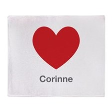 Corinne Big Heart Throw Blanket