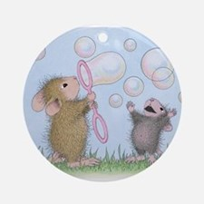 Bubble Blowing Buddies Ornament (Round)