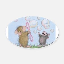 Bubble Blowing Buddies Oval Car Magnet