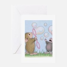 Bubble Blowing Buddies Greeting Card