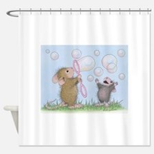Bubble Blowing Buddies Shower Curtain