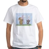 Bubbles Mens White T-shirts