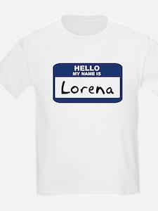 Hello: Lorena Kids T-Shirt