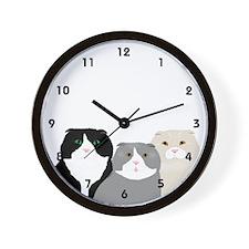 Scottish Fold Wall Clock