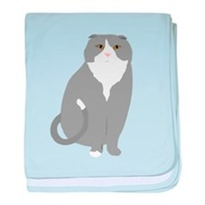 Scottish Fold baby blanket