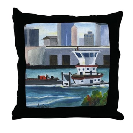 On the River In New Orleans Throw Pillow