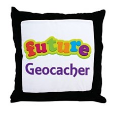 Future Geocacher Throw Pillow
