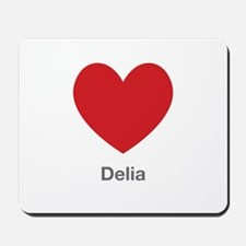 Delia Big Heart Mousepad