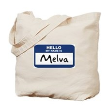 Hello: Melva Tote Bag