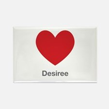 Desiree Big Heart Rectangle Magnet