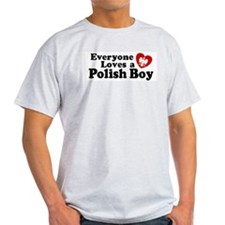 Everyone Loves a Polish Boy Ash Grey T-Shirt