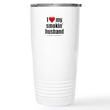 """Love My Smokin' Husband"" Travel Mug"