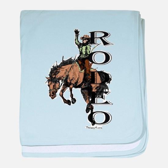 Rodeo baby blanket