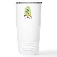 Woodland Raccoon and Deer Travel Mug