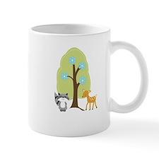Woodland Raccoon and Deer Mug