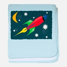 Rocket Ship baby blanket