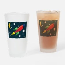 Rocket Ship Drinking Glass