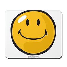 smug smiley Mousepad