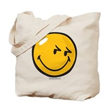 sneakiness smiley Tote Bag