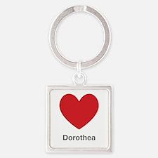 Dorothea Big Heart Square Keychain