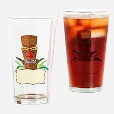 Tiki Drinking Glass