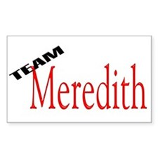 Team Meredith Rectangle Decal