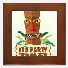 Its Party Time! Framed Tile