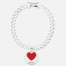 Ebony Big Heart Bracelet