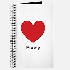 Ebony Big Heart Journal