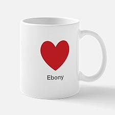 Ebony Big Heart Mug
