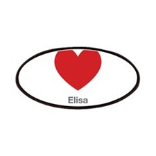 Elisa Big Heart Patches