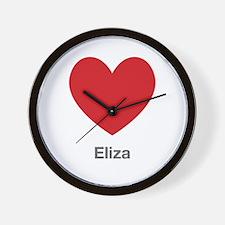 Eliza Big Heart Wall Clock