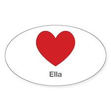 Ella Big Heart Decal