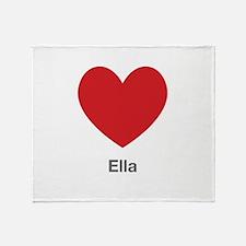 Ella Big Heart Throw Blanket