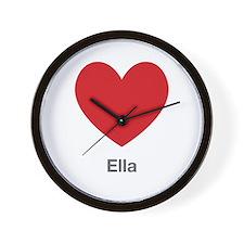 Ella Big Heart Wall Clock