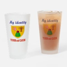 My Identity Turks and Caicos Drinking Glass