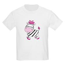Cute Pink Zebra T-Shirt